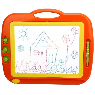 超大號彩色磁性畫板 兒童益智玩具 卡通印章繪畫 涂鴉寫字板 寶寶幼兒手寫小黑板1-3-6歲 8888A橙色