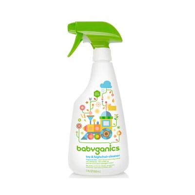 美國甘尼克寶貝 babyganics 餐椅玩具清洗劑 無香消毒液502ml