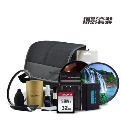 摄影包二 (索尼微单A6000/A6300/A6400 16-50镜头配件内存卡 微单包 电池等组合套餐二)DSSK