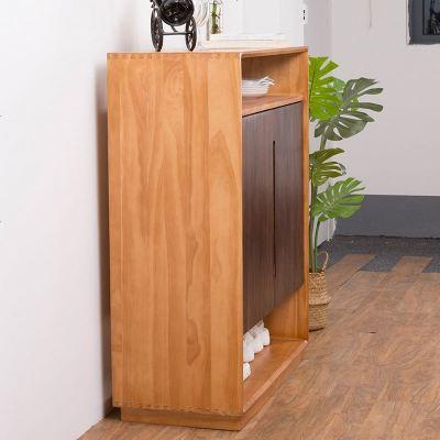 顧致北歐實木餐邊柜 簡約現代茶水柜日式玄關柜儲物柜 客廳鞋柜收納柜