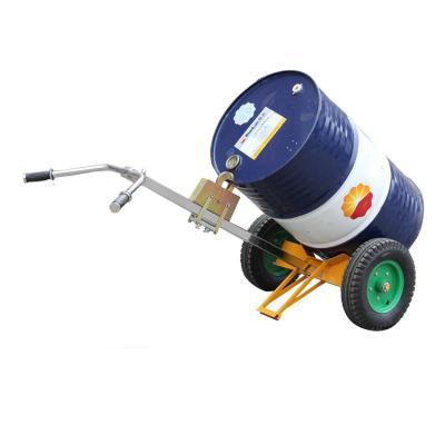 油桶搬运车DE450充气轮手动油桶车 圆桶塑料铁桶手推车咬嘴油桶车 铁塑两用DE450(充气轮)