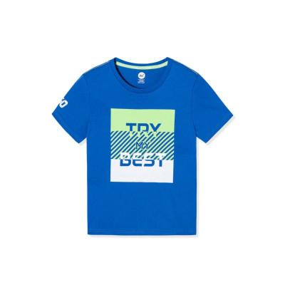 361°兒童夏季柔軟親膚運動休閑T恤男大童短袖男童短袖男童T恤