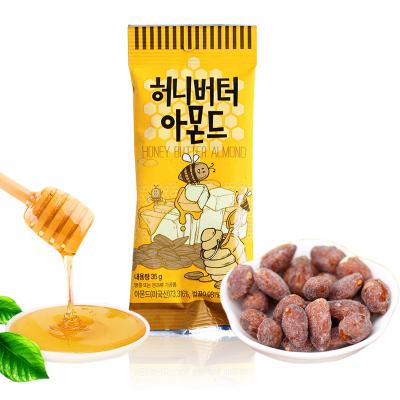 韓國進口Tom's Farm湯姆農場黃油蜂蜜扁桃仁堅果果干35g袋裝 休閑堅果零食