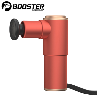 菠蘿君Booster MINI口袋筋膜槍 電動深層肌肉放松筋膜槍 肌膜搶 健身器材 運動居家辦公室按摩師 紅色款 + 收納包套餐