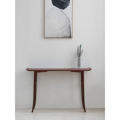 黑胡桃木閃電客新中式玄關桌進入戶現代簡約極簡北歐式輕奢條案