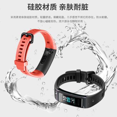 華為3/3pro/4pro腕帶-午夜藍用華為運動手環3PRO/4PRO表帶 智能手環腕帶TER-B09/B29多彩個
