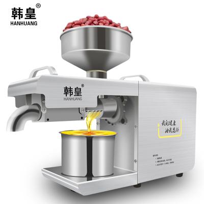 韓皇榨油機商用不銹鋼機身小型智能炸油機榨花生亞麻籽核桃油機