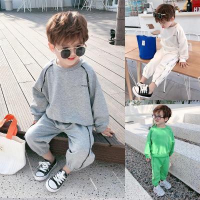 男童春裝運動套裝洋氣潮寶寶長袖衛衣兩件套兒童韓版潮2020新威珺