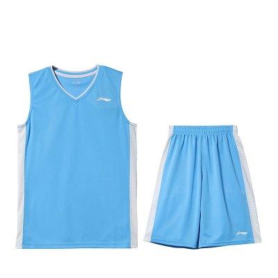 李寧童裝籃球比賽套裝男小大童3-12歲籃球系列夏季運動服