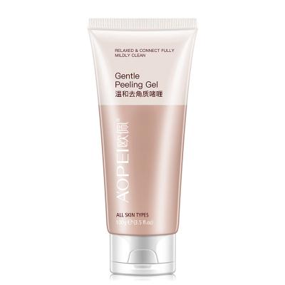 歐佩(OU PEI)溫和去角質啫喱100g 面部全身深層清潔毛孔臉部洗面奶女男士