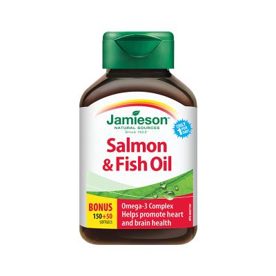 【比鱼油更好】jamieson 健美生 三文鱼油软胶囊 200粒/瓶 加拿大进口 鱼油/深海鱼油 325克