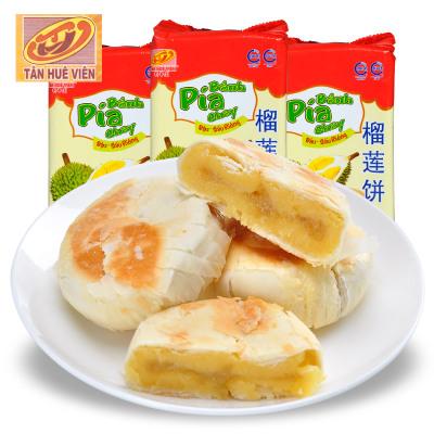 越南進口 新華園 榴蓮餅400gX3袋組合特惠裝 網紅辦公室零食