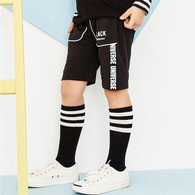 【79元任選3件】moomoo童裝男童短褲夏裝新款中大童學生多色針織五分褲