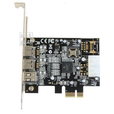 樂擴 PCI-E轉1394B 卡高清DV視頻采集卡1394采集卡 火線聲卡 DV