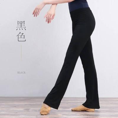 舞蹈裤瑜伽裤子健身房跑步运动裤女宽松练功喇叭裤成人训练体操裤