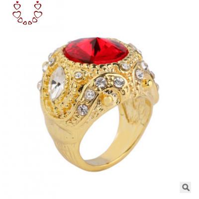 歐美復古花鑲鉆寶石男士扳指潮流戒指女士瑪瑙時尚大海星情侶戒 Chunmi瑪瑙戒指