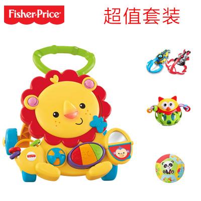 Fisher Price 费雪多功能狮子学步车 6-36个月婴幼儿塑料玩具-Y9854(套装)