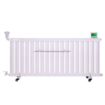 闪电客新款水电暖气片智能温控加热棒节能加注水钢制加湿散热取暖器家用 静音24柱温控散热22-25平