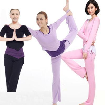 瑜伽服秋冬套装三件套中长袖莫代尔瑜伽服舞蹈服健身服女套装