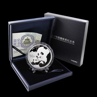 河南中錢 中國金幣 2019年熊貓幣大規格精制幣 150克銀幣