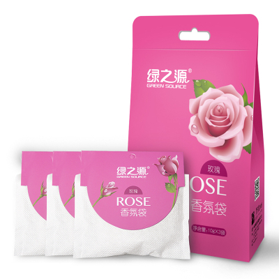 綠之源 玫瑰香氛袋 衣柜芳香劑室內臥室衛生間新車精油香袋除味香包清新劑(10g*3袋)Z-0169