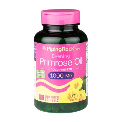 PIPING ROCK 月見草油軟膠囊 營養保健品100粒平衡內分泌呵護痛經鎖水潤滑肌膚