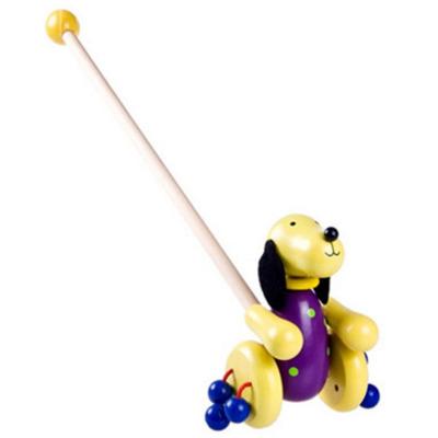 帥美熊木制動物小推車寶寶鍛煉學步拖拉玩具木制學走路玩具