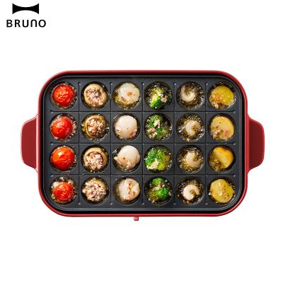 日本BRUNO章鱼丸子烤盘 BOE021-TAKO进口多功能烤肉烧烤料理锅家用电烤炉电烤盘