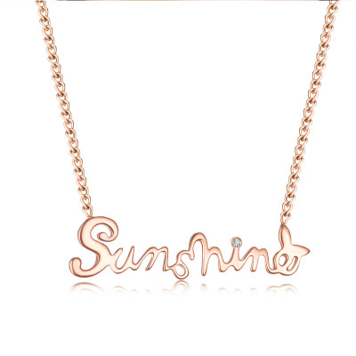 佐卡伊 sunshine 何以笙箫默同款钻石项链