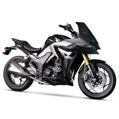 国四电喷摩托车跑车地平线双缸水冷400cc旅行街车公路赛趴赛可上牌