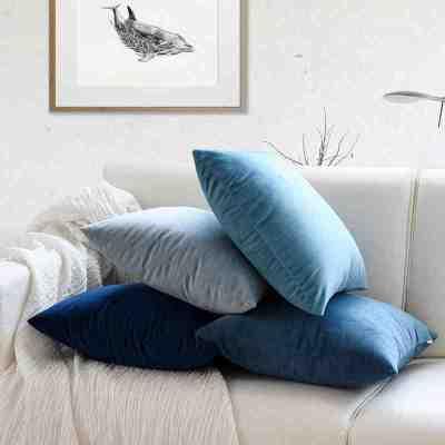 七日愛(Qiriai)沙發抱枕套北歐靠墊臥室床上靠背客廳靠枕正方形方枕頭