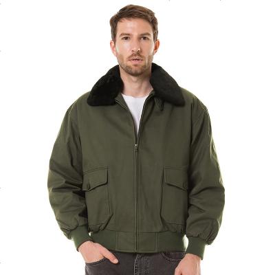 Luxury Lane男士秋冬款G1飛行夾克 可脫卸毛領棉衣外套
