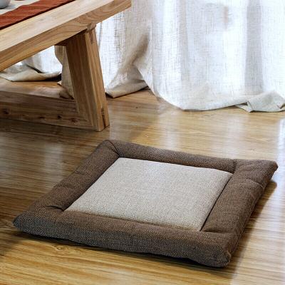 棉麻坐墊 加厚方形布藝地板打坐日式陽臺飄窗榻榻米坐墊
