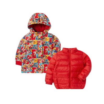 迷你巴拉巴拉兒童羽絨服男女童齊天大圣IP新年裝冬款兩件式外套