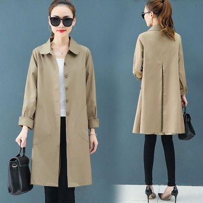 魅芷(MeiZhi)春秋新款薄款風衣女中長款2020流行小個子時尚外套韓版氣質收腰長袖開衫