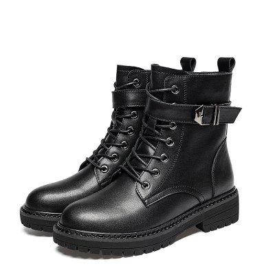 马克华菲女士马丁靴女款靴子女冬鞋子加绒高帮女鞋女士靴子女靴秋冬女鞋
