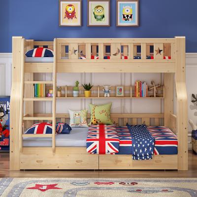 禧漫屋 全實木床上下床子母床兩層兒童床雙層床高低床松木簡約現代成人床上下鋪雙人床多功能女童公主床2米木質床