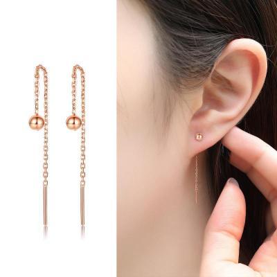 【2020新款】老廟黃金 18K金耳飾Au750圓光珠耳線