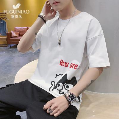 富貴鳥 T 恤 2020 夏 季 新品 透氣 t 恤 男 修身 體 恤 男士 韓版 圓領 短 袖 潮牌 百搭 男裝 時尚
