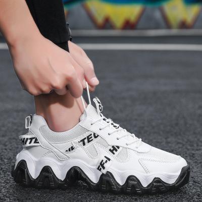 策恩公牛男鞋夏季透氣2020新款韓版潮流小白板鞋百搭網面運動休閑老爹潮鞋