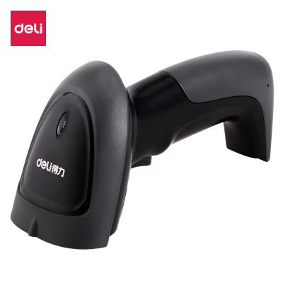 得力deli14881条码扫描枪一维码无线扫描枪商品条码枪 即插即用扫码枪(黑色)USB接口