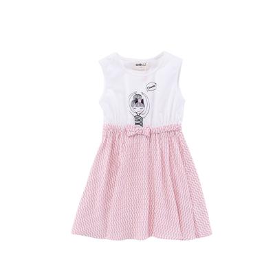 Жижиг улаан буурцагны хүүхдийн хувцас худалдааны төв нь ижил хэмжээтэй охидын зуны хувцаслалт, pleated юбка оёдог гадаад банзал GXQ533KB3 140cm ягаан