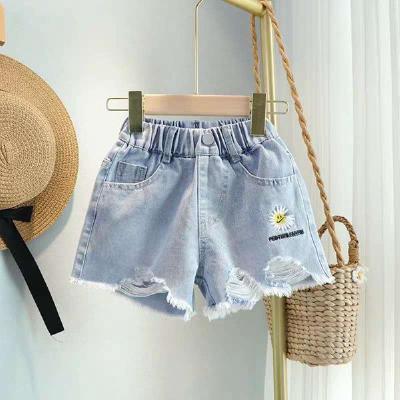 2020新款女童牛仔短褲兒童韓版高腰寬松熱褲夏季薄款大童女孩褲子 娜蜜雨(NAMIYU)