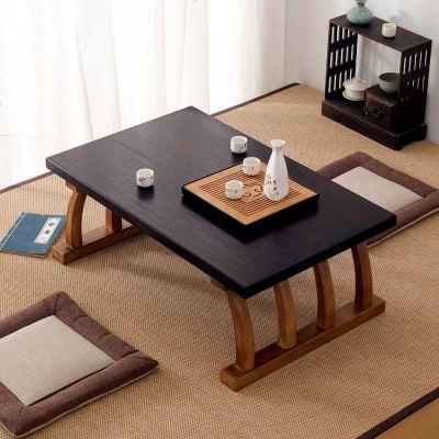 顾致实木茶几榻榻米茶桌日式简约飘窗桌炕桌小矮桌创意茶桌中式阳台桌