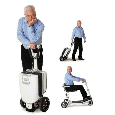 以色列ATTO进口旅行箱代步车Movinglife 轻便折叠残疾人老年老人电动代步车可上飞机