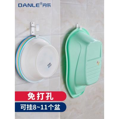 免打孔臉盆架壁掛式洗臉盆收納架衛生間置物架浴室盆架子浴盆掛鉤