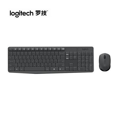 【羅技旗艦店】羅技(Logitech)MK235 無線鍵鼠套裝 無線鼠標無線鍵盤套裝