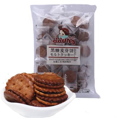 ddung 冬己 黑糖麦芽味饼干 休闲零食 夹心小饼干258g