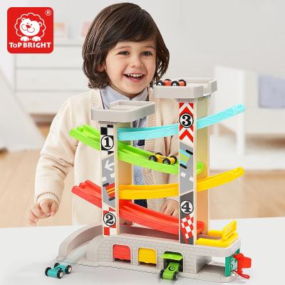 特寶兒(topbright)五軌競速滑翔寶寶益智玩具1-3歲 男孩女孩玩具木質軌道車兒童玩具早教生日禮物 120402