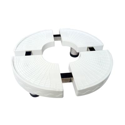 帮客材配 安居士 空调柜机底座 圆形 整箱销售 10个一箱 白色